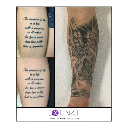 cover up of tattoo removal religious piece